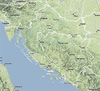 Geographical location of Croatia